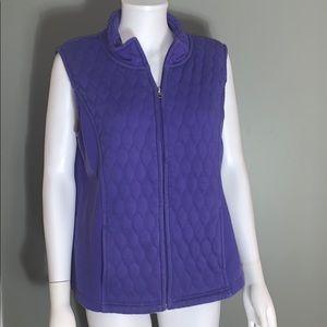 Croft & Barrow Womans Purple Quilted Vest SZ.L